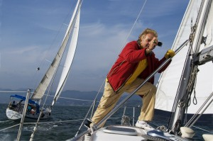 Ron Jaffe - Sailing - Photo by Steve Runningen