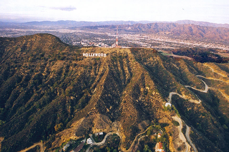 Hollywood Sign Looking Into San Fernando Valley